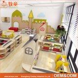 Gabinete de armazenamento do brinquedo do MDF da mobília do jardim de infância de China para a sala de aula pré-escolar