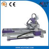 Máquina de gravura do CNC dos gabinetes de cozinha com o eixo três