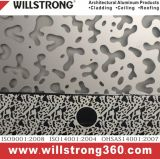 Panneau en aluminium perforé pour le revêtement de mur