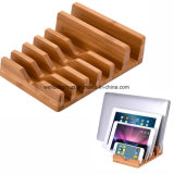 Support de chargement Bamboo Wood, support de support en bambou 6 en 1 pour iPhone / iPad Mini / iPad & All Tablet PC et téléphone mobile