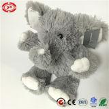 Jouet adorable d'éléphant bourré par peluche molle grise pelucheuse d'animal sauvage