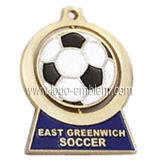 Conception personnalisée en alliage de zinc Spinner Médaille - Soccer/ Football / événement sportif