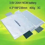 Prismatische Zelle Nmc 3.2V 20ah des Beutel-LiFePO4 prismatische nachladbare Batterie LiFePO4