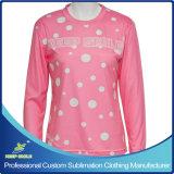 Sublimación personalizado Lacrosse chica Camiseta de manga larga