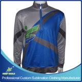 カスタムデザインの完全な昇華報酬1/4のジッパーのスポーツジャケット