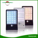 Weißer u. warmer Bewegungs-Fühler-wasserdichter Fernsteuerungsgarten-Solarlicht des Weiß-48 LED im Freien der Beleuchtung-PIR