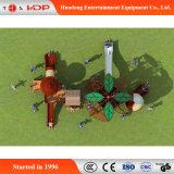 Cour de jeu extérieure drôle d'enfants en bois de montée de série de forêt (HD-MZ004)
