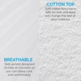 報酬100%の防水綿のテリーのマットレスの保護装置