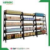 Estante de pared de madera y metal supermercado estantes Rack