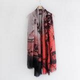Fashion Paisley Impresso Viscose Algodão Seda lenço mulheres (YKY1154)