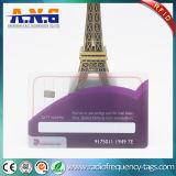Scheda di plastica trasparente della scheda del PVC stampata abitudine libera per il regalo di festival