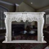 Mensola del camino di marmo ispirata francese del camino, stile barrocco Rococo, T-6577 molto intagliato