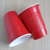 Wegwerf16oz 450ml PS rote Partei-Plastikcup