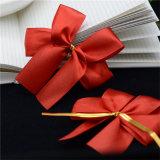 Geschenk-Süßigkeit-Vor-Band verpackendekoration-Satin-Farbband Bogen mit Goldtorsion