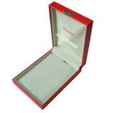 주문 로고를 가진 호화스러운 Retro 크림 Leathette 선물 보석 포장 상자