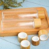 Leere Lotion-Pumpen-Flasche mit Bambusdeckel
