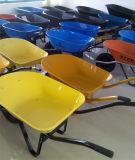 Carrello di giardino di gomma solido della carriola della riga della barra di rotella della Sudafrica Wb3800