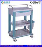 Carretilla de múltiples funciones del tratamiento médico del hospital de ISO/Ce del ABS aprobado de los muebles