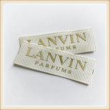 Escritura de la etiqueta tejida aduana del precio de fábrica para la tela de la ropa
