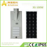 2018 Nuevo en un diseño integrado de 160 lm/W 100W Luz solar calle con 3030 chips LED