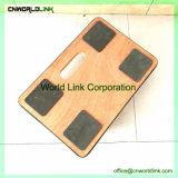 Carrello antisdrucciolevole di legno del rullo del coperchio di figura quadrata
