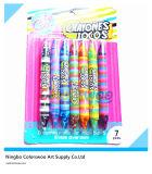 7 doubles crayons d'arc-en-ciel de bout de couleur pour des étudiants et des enfants