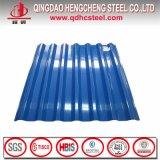 Chapas de aço telhando galvanizadas Prepainted onduladas