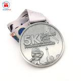 Célébration en métal argenté antique Médaille de mouvement