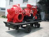 Diesel de emergencia de la bomba de agua contra incendios con remolque