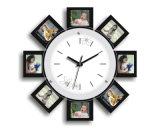 Новые часы стены картинной рамки рамки фотоего конструкции деревянные
