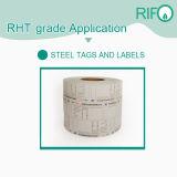 Étiquette de papier à haute température, auto-adhésif des étiquettes de code à barres en acier