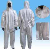 微小孔のあるつなぎ服の働くユニフォーム、フードが付いている防水使い捨て可能なつなぎ服