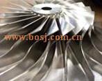 De hoge Leverancier Thailand van de Fabriek van het Wiel van het Aluminium van de Drijvende kracht van het Wiel 58X83 van de Compressor van de Staaf van Prestaties Hx40 TurboCNC Machinaal bewerkte