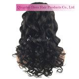 Indische Remy Menschenhaar-wellenförmige Spitze-Großhandelsperücke-reales Haar