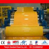 Ral bobina de acero prepintada amarilla PPGI de 1037 Sun