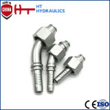 High Quality Carbon Steel Hydraulic Hose Pipe Fitting with Plating Zinc