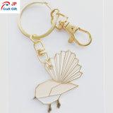 주문 고품질 나비 모양 금속 Keychain