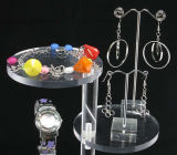 Insieme di visualizzazione di plastica acrilico libero su ordinazione della collana dei monili dei monili