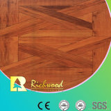 8.3mm E1 AC3 HDF Woodgrain Textile Teak Plancher stratifié à rayures cirées