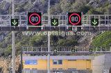 Sinal de velocidade digital intermitente ao ar livre Sinal de velocidade eletrônico de limite de velocidade