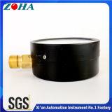 Tipo econômico venda barata geral de 4 polegadas dos calibres de pressão de 2.5MPa com parte inferior de aço da caixa do conetor de bronze