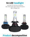 LED 모는 빛 및 숨겨지은 밸러스트를 가진 H4 H/L LED 헤드라이트 8000lm LED 빛