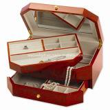 宝石類のベストセラーのクルミの終わりの光沢度の高い終わりの宝石箱