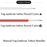 眉毛の/Tattooのアイライナー/目のシェーディングのための熱い販売3r/5r円形のMicrobladingの入れ墨の刃