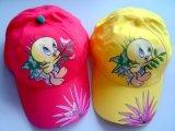 Corlorful embroma el sombrero amarillo de la gorra de béisbol del pato de la historieta