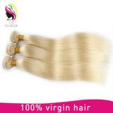 Do cabelo louro reto Mongolian de Remy da qualidade superior cabelo humano