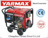 Diesel van het Frame van de Dieselmotor van het Lawaai van Yarmax de Lagere Lucht Gekoelde Open Reeks van de Generator Genset ym9500eb-I