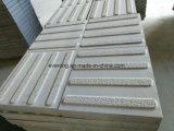 Pavimentação tátil de granito cinza, Pedra Pavimentadora de cegos para invisuais