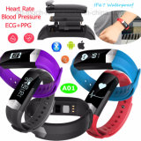Braccialetto astuto con il tasso di ECG/PPG/Heart & la pressione sanguigna A01