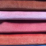 Tessuto molle eccellente del poliestere del breve velluto del mucchio per il sofà